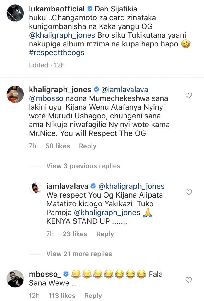 Khaligraph Jones warns Wasafi Records Mbosso and Lava Lava